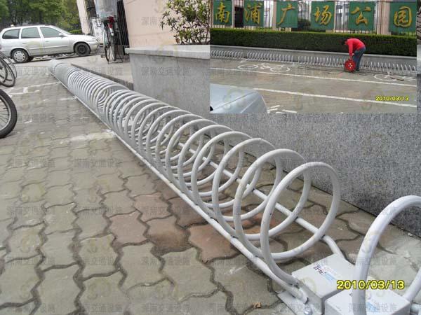摩托车停放架_经销圆形自行车架子 高低电瓶车架子 摩托车停放架 - 产品库 - 无 ...