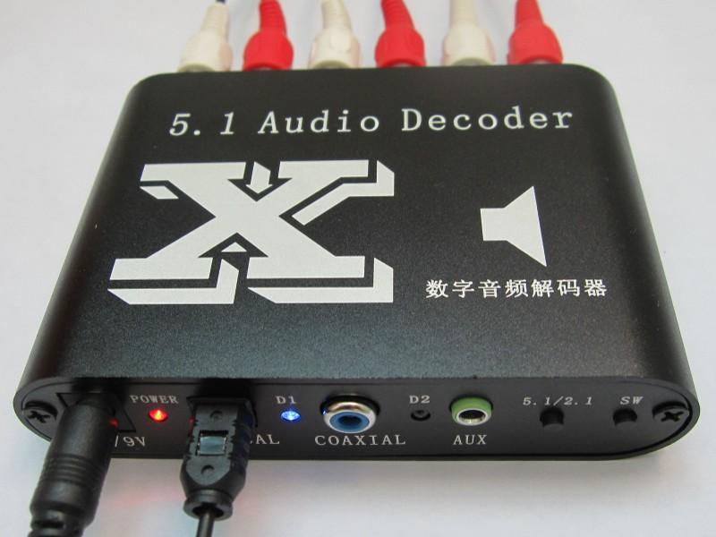 切换到有信号输入通道,当无信号输入时,输出静音功能  6,6个rca(莲花