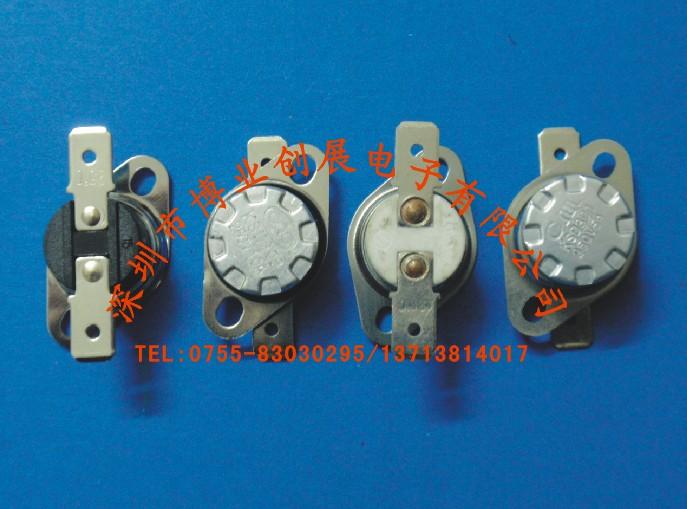 产品名称:突跳式温控开关 品牌:博创 型号:KSD301/KSD302/KSD303/KSD305 本体材料:电木、陶瓷 开关类型:常闭/常开 工作电压:110V、250V、400V(V) 过载电流:5A、10A、15A、20A、40A、60A 动作温度:0度到300度() 寿命:50000(次) 产品认证:CCEE认证、CQC认证、美国UL认证、德国VDE认证、欧共体CE认证 产品特点、用途及工作原理 本公司专业生产各种系列双金属型热保护器、温控器、温度开关及RH低熔点合金型热熔断器,产品采用各种进口材