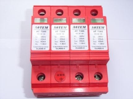 at t385/4p-c40第二级三相电源防雷箱