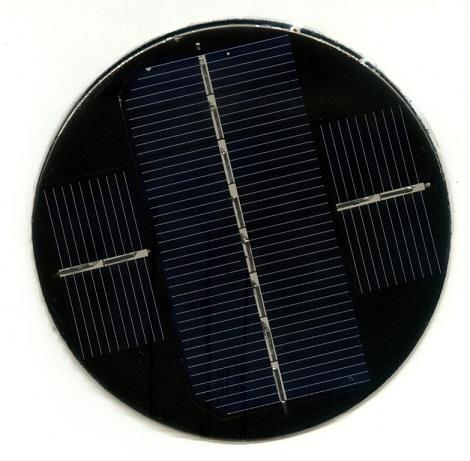 供应圆形草坪灯太阳能电池板产品大图