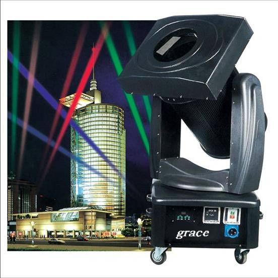 摇头换色探照灯- 2000W- 5000W 详细说明: 技术参数 额定电压:220/240VAC 50Hz/60Hz 额定功率:2KW-5KW 灯泡:XQ2000-5000W 功能:IP55防护等级,特别适合户外环境下使用,机体内具有过热、过载、短路、失压保护、防震、防水的LED电子地址设定和显示 控制信号:DMX512 扫描角度:水平345°、垂直230° 具有光敏纠错编码,自动校正灯具归位,不失步 光闸:具有线性调光及频闪 灯泡开关:采用DMX512控制 光束角度:手调角度9&#1