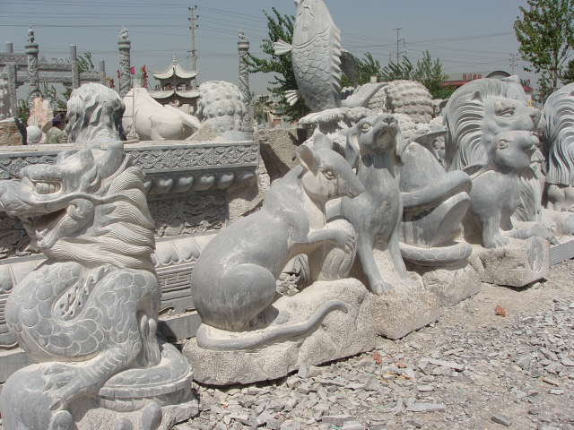 石雕十二生肖,石雕动物,石雕十二生肖价格,石雕十二生肖图片,嘉祥石雕