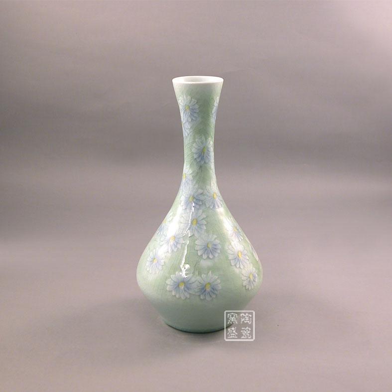 景德镇窑盛陶瓷陶艺花瓶【菊花】 - 江西景德镇