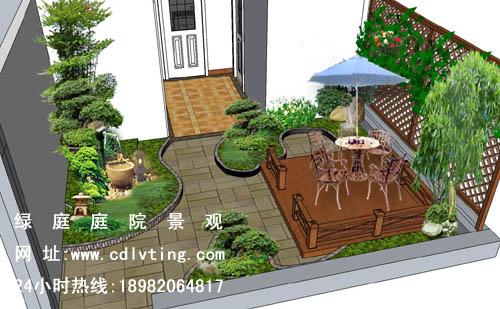 成都空中花园设计,成都别墅花园设计,成都屋顶花园绿化设计,园林景观图片