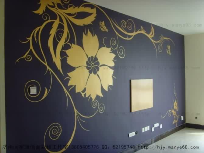 手绘墙 墙面裂纹